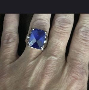 Beautiful Sterling Silver Blue Tanzanite Ring